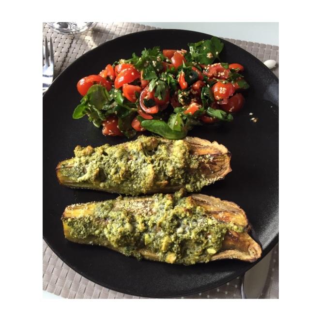 aubergine-pesto